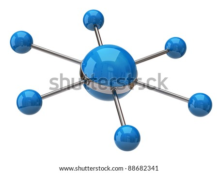 Concept of network and communication - stock photo
