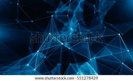 Concept of Network, internet communication - 3d illustration