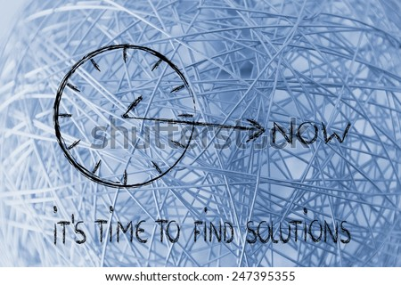 concept of not wasting time, find solutions - stock photo