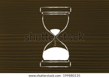 concept of not wasting time, hourglass time