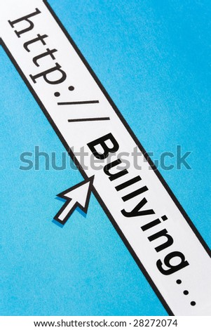 concept of Online Bullying, Social Issues - stock photo