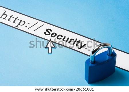 concept of online security, Social Issues - stock photo