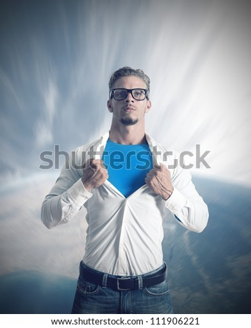 Concept of power of a businessman - stock photo