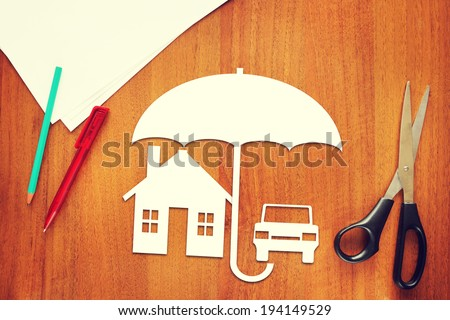 Concept of property insurance - stock photo