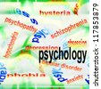 concept of psychology background - stock photo