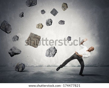 Concept of risk and problem in the business - stock photo