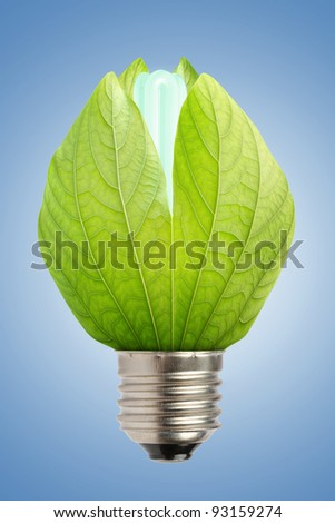 concept of saving energy - stock photo