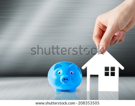 Concept of saving for home - stock photo