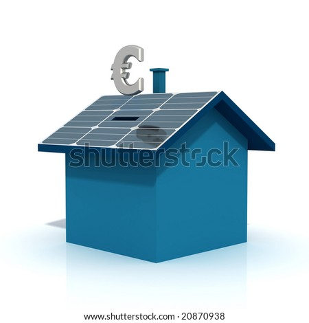 concept of saving with the alternative energy - euro version