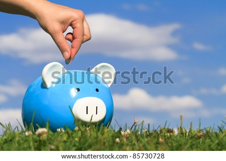 concept of savings - stock photo