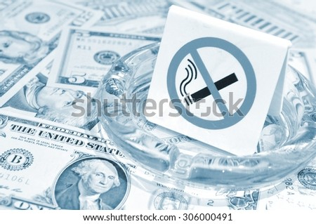 Concept of smoking price in US dollars  - stock photo
