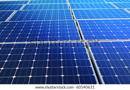 concept of solar cell battery harness energy of the sun - stock photo
