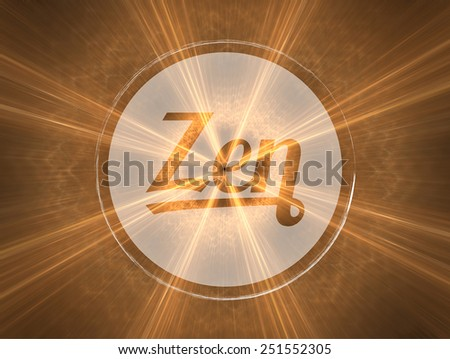 Concept of spirituality, harmony and philosophy of life. Background illustration with high detail. - stock photo