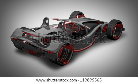 concept of sport car (roadster) (No trademark. This car is my own design) High resolution 3d render - stock photo