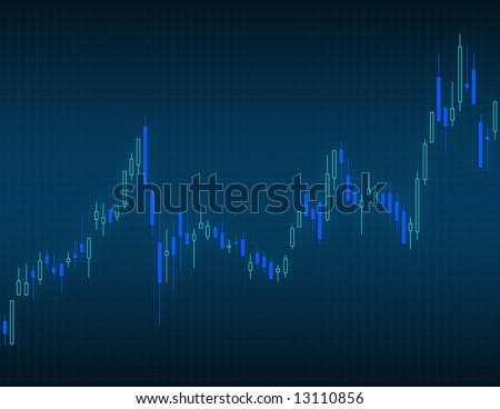 Concept of stock market. The candlestick chart is very useful to comprehend the different type of stock prices. - stock photo