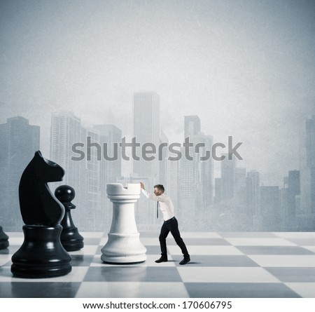 Concept of strategy and tactics in business - stock photo