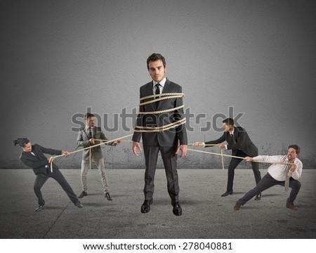 Concept of teamwork and strength through unity - stock photo