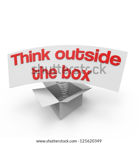 "Concept of ""think outside the box"" - stock photo"