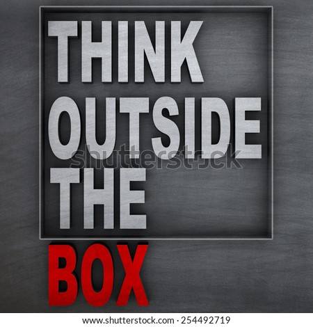 """Concept of """"think outside the box"""" - stock photo"""