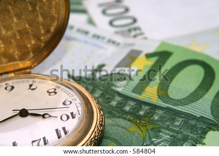 "Concept of ""Time is money"" phrase"