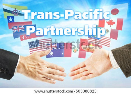 Concept of TPP. Trans Pacific Partnership trading association