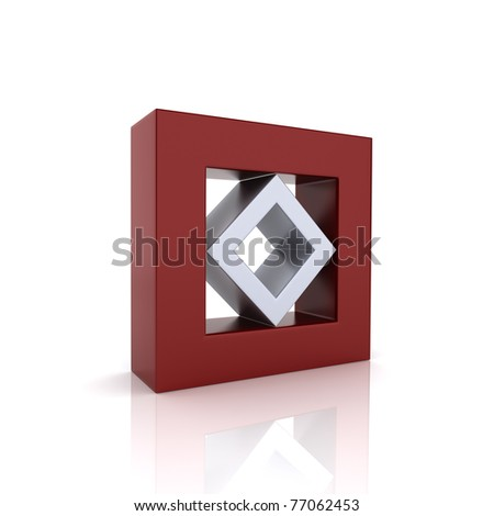 Concept of unity with two frames (red collection) - stock photo
