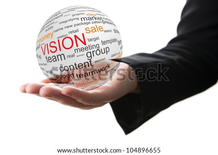 Concept of vision in business - stock photo