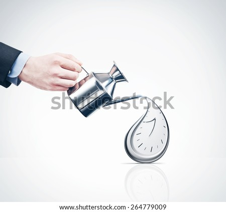 concept of wasting time - stock photo