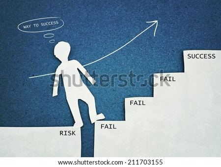 "concept of ""way to success"" - stock photo"