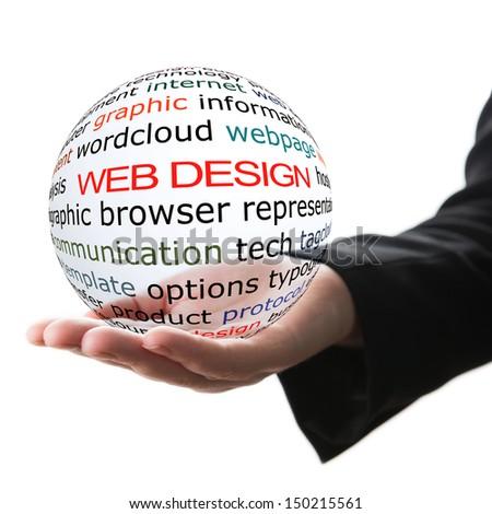 Concept of web design - stock photo