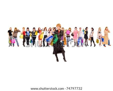 Concept One Isolated - stock photo