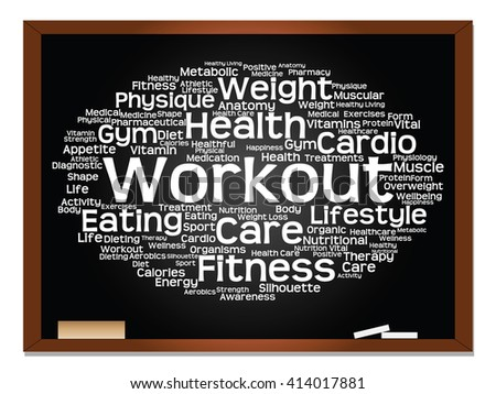 Concept or conceptual abstract word cloud on blackboard background as metaphor for business, trend, media, focus, market, value, product, advertising or customer. Also for corporate wordcloud - stock photo
