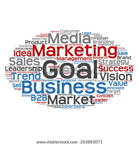 Concept or conceptual abstract word cloud on white background as metaphor for business, trend, media, focus, market, value, product, advertising or customer. Also for corporate wordcloud - stock photo