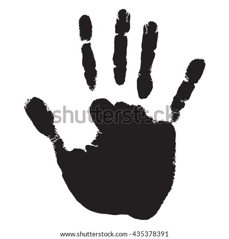 Concept or conceptual cute paint human hand or handprint of child isolated on white background for art, childhood, fun, happy, infant, symbol, kid, identity, education, school, little or young - stock photo