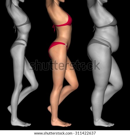 anorexic girls skinny Woman