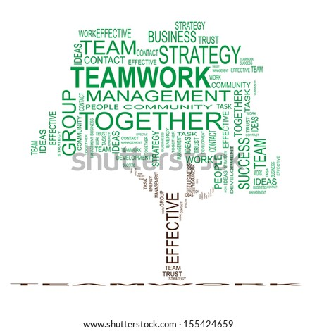 Concept or conceptual green text word cloud or tagcloud isolated on white background,metaphor for business,team,teamwork,management,effective,success,communication,company, cooperation,group or symbol - stock photo