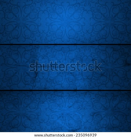 Concept or conceptual old vintage blue paper texture background for Christmas, Valentine holiday, metaphor to abstract, antique, retro, aged, textured, card, brochure, invitation, rough label layout - stock photo