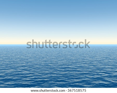 Concept or conceptual sea or ocean water waves and sky cloudscape exotic or paradise background metaphor to nature, peace, summer, travel, tropical, tourism, environment, vacation or holiday seascape - stock photo