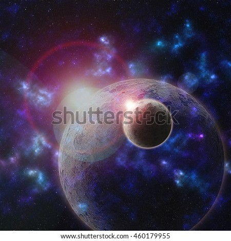 Concept or idea , planet in the universe