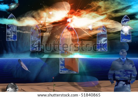 Concept Painting - stock photo