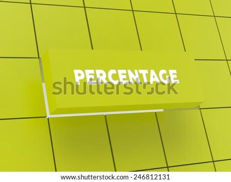 Concept PERCENTAGE - stock photo