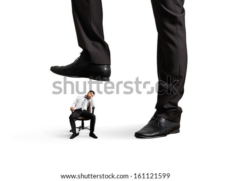 concept photo of bad lazy worker. isolated on white background