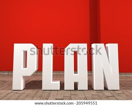 concept plan. Business idea.  - stock photo