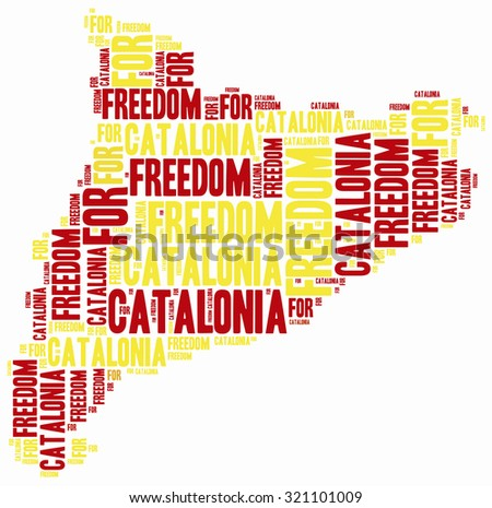 Concept related to catalonia separation from spain. - stock photo