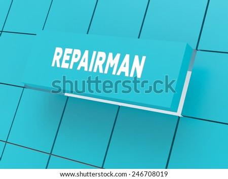 Concept REPAIRMAN - stock photo