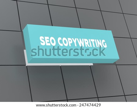 Concept SEO COPYWRITING - stock photo