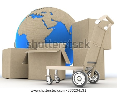 Concept. Shipping. Transport.Concept - 3D