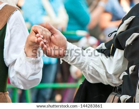 Concept shoot of friendship and love of man and woman - stock photo