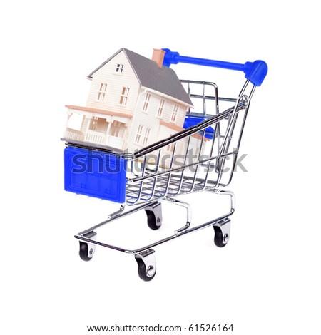 Concept: shopping for a house - stock photo
