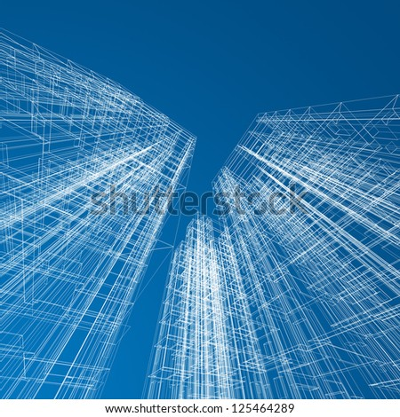 Skyscraper Blueprint Stock Images Royalty Free Images Vectors